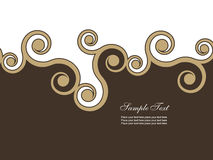 Abstract background. With brown swirls Royalty Free Stock Images