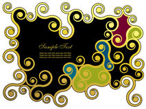 Abstract background. With golden swirls Royalty Free Stock Photography