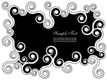 Abstract background. Black and white abstract background with swirls Stock Image