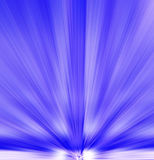 Abstract - background. Blue and White rays of light Royalty Free Stock Photography
