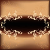 Abstract Background. Illustration with flourishes Royalty Free Stock Photo