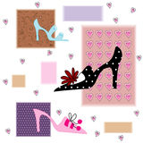 Abstract background. With fashion shoes Stock Images
