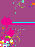 Abstract background. Vector illustration of abstract and floral elements Stock Images