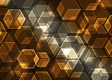 Abstract  background. Abstract background with transparent hexagons Stock Photography