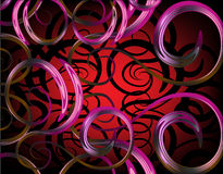 Abstract background. With floral shapes Royalty Free Stock Photos