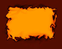 Abstract Background. Background with fire orange and dark red border Royalty Free Stock Photography