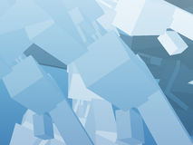 Abstract background. 3d with cube construction blue color Stock Images