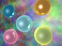 Abstract background. Abstract mist background with bubbles Royalty Free Stock Photography