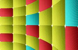 Abstract background. Green, blue and red dynamic squares. Abstract illustration Stock Photo