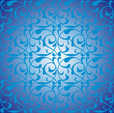 Abstract background. Blue abstract background with curls Royalty Free Stock Photos