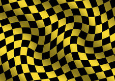 Abstract background. Abstract yellow/black checkered background royalty free illustration