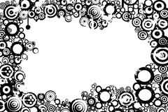 Abstract background. Circles, black and white stock illustration
