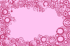 Abstract background. Circles, pink tones royalty free illustration