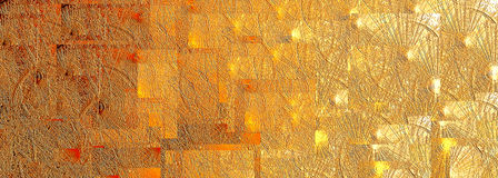 Abstract background. Of gold reliefs and community Stock Photography