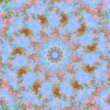 Abstract background. Kaleidoscope of flowers stock illustration