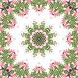 Abstract background. Kaleidoscope of flowers on a white background Royalty Free Stock Photography