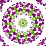 Abstract background. Kaleidoscope of flowers on a white background royalty free illustration