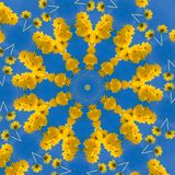Abstract background. Kaleidoscope of flowers royalty free illustration