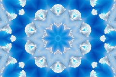 Abstract background. Kaleidoscope, blue sky vector illustration