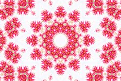 Abstract background. Kaleidoscope of flowers, isolated on a white background stock illustration