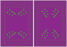 Abstract background. Two abstract illustrations on a violet background Royalty Free Stock Photo