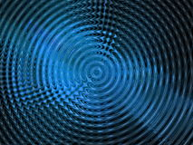Abstract background. Abstract rippled hypnotic blue background royalty free stock photography