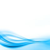 Abstract background. With waves of blue colour Stock Photography