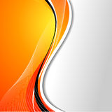 Abstract background. With flowing lines in orange tones vector illustration