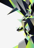 Abstract background. From geometric shapes stock illustration