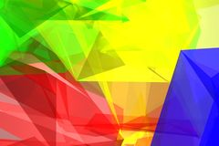 Abstract background. Multi colour 3d abstract background Stock Photo