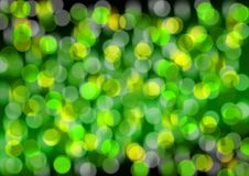 Abstract Background. Blurry Green and Yellow Lights on Black Background stock illustration