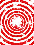 Abstract background. Red and white circles, ink splats stock illustration