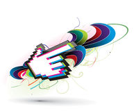 Abstract background. With hand mouse symbol, vector illustration Royalty Free Illustration