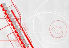 Abstract background. With circles and arrows stock illustration