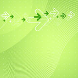Abstract background. Abstract green background with arrows Stock Photography