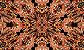 Abstract Background. Native American Style Abstract Cross Background With Beads stock illustration