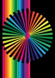 Abstract Background. Illustration of pinwheel in rainbow colors / Vector royalty free illustration