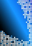 Abstract Background. Cubes in shades of Blue on Blue Gradient Background / Vector stock illustration