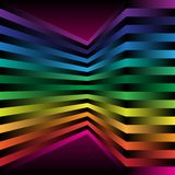 Abstract Background. 3D Spectrum Color Strips on Dark Background / Vector vector illustration
