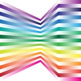 Abstract Background. Spectrum Color Strips on White Background / Vector royalty free illustration