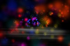 Abstract background. Abstract colorful blurs on dark background stock illustration