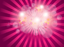 Abstract background. Burst magic lights, vector Royalty Free Stock Photography
