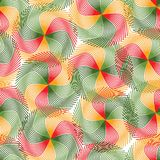 Abstract background. Vector wallpaper with color circles Stock Image
