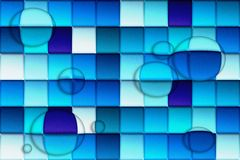 Abstract Background. Drops on Blue Cubes stock illustration