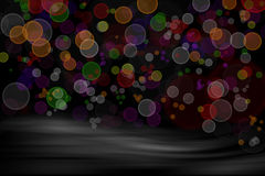 Abstract background. Abstract colorful blurs on dark background royalty free illustration