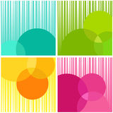 Abstract background. Four multi-coloured abstract background on white Stock Photo