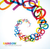 Abstract background. With colorful rainbow numbers Royalty Free Stock Photography