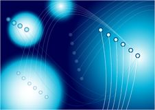 Abstract Background. Optical Fibres on Dark Blue Background / Vector vector illustration