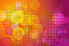 Abstract background. Bright abstract colorful lights and halftone pattern background Stock Photos