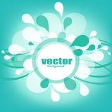 Abstract background. Blue background with drops and place for your text vector illustration